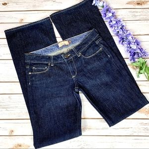 Paige Dark Wash Laurel Canyon Flare Jeans NWOT 28